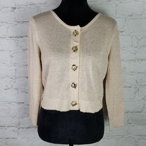 Calvin Klein gold shimmer sweater size Medium